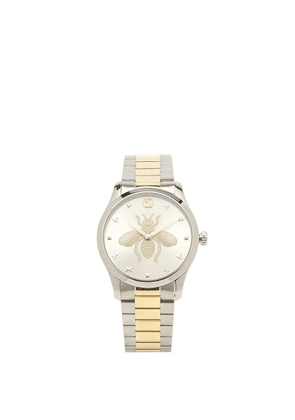 Gucci - G-timeless Stainless-steel & Gold Pvd Watch - Womens - Silver