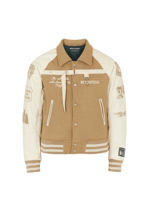 Reese Cooper Call Of The Wild Wool And Leather Bomber Jacket