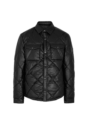 Barbour CPO Black Quilted Shell Jacket