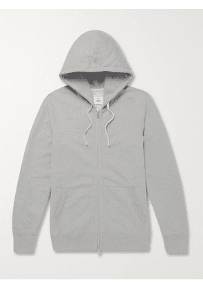 Reigning Champ - Slim-Fit Mélange Loopback Cotton-Jersey Zip-Up Hoodie - Men - Gray - XS