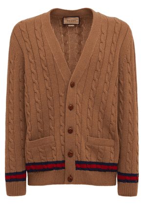 Cashmere & Wool Cable Knit Cardigan