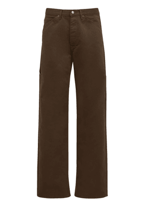 Relaxed Cotton Blend Carpenter Jeans
