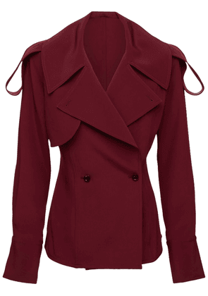 Silk Twill Trench Blouse Shirt