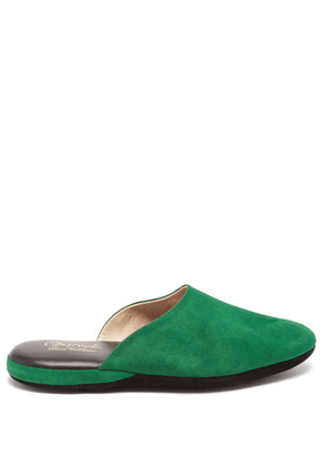 Charvet - Suede Slippers - Womens - Green