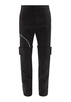 Givenchy - Zipped Cotton-twill Trousers - Mens - Black