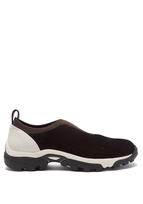 A-Cold-Wall* - Dirt Moc Suede And Neoprene Trainers - Mens - Black White