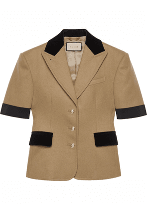 Gucci short-sleeve single-breasted jacket - Neutrals