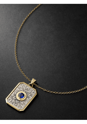 Duffy Jewellery - 18-Karat Yellow and White Gold Sapphire Necklace - Men - Gold