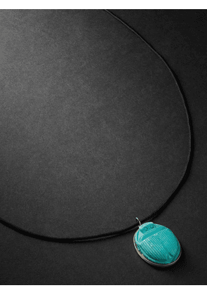 Jacquie Aiche - Gold, Turquoise and Cord Necklace - Men - Blue