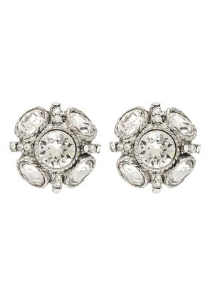 Classic Button crystal-embellished earrings