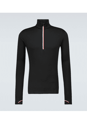 Technical long-sleeved sweater