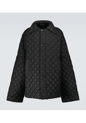 Quilted nylon down coat