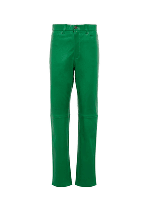 Exclusive to Mytheresa – Terry high-rise leather pants
