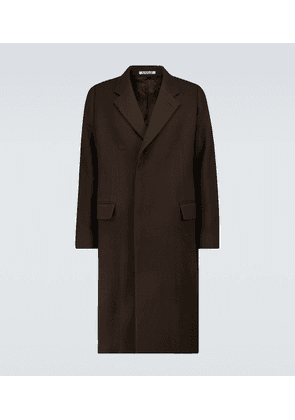 Double-faced wool overcoat
