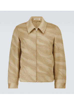 Wool and cashmere jacquard jacket