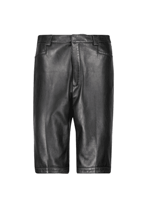 Straight leather culottes
