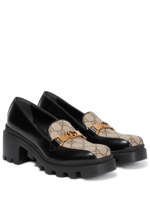 GG leather loafers