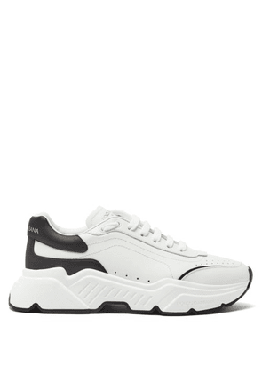 Dolce & Gabbana - Daymaster Leather Trainers - Mens - White Black