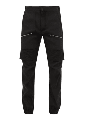 Givenchy - Layered-effect Zipped Rep Trousers - Mens - Black