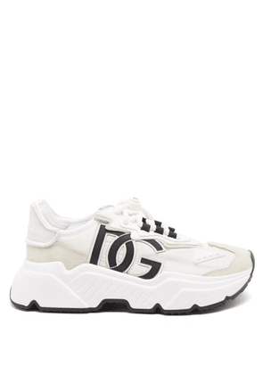 Dolce & Gabbana - Daymaster Chunky-sole Leather Trainers - Womens - White