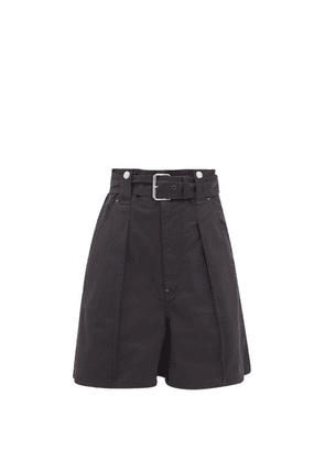 Isabel Marant - Delilaz High-rise Pleated Cotton-twill Shorts - Womens - Black