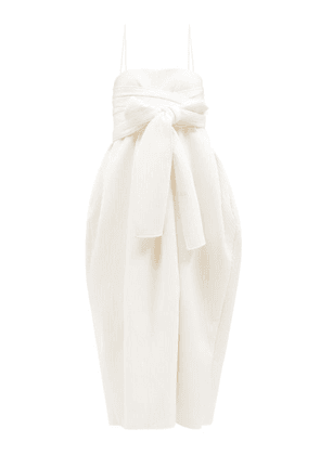 Cecilie Bahnsen - Jilly Square-neck Quilted Midi Dress - Womens - White