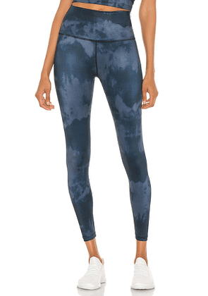 Beyond Yoga Lux High Waisted Midi Legging in Navy. Size L.