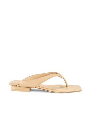 Cult Gaia Jasie Sandal in Nude. Size 36.
