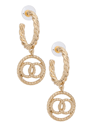 8 Other Reasons Nellie Hoops in Metallic Gold.