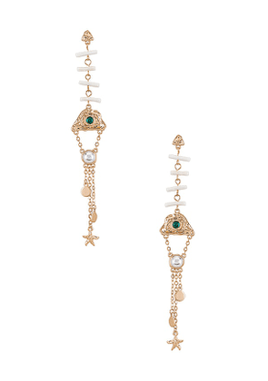8 Other Reasons Ascending Earring in Metallic Gold.