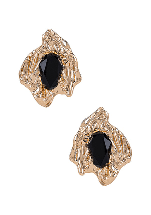 8 Other Reasons French Kiss Earring in Metallic Gold.