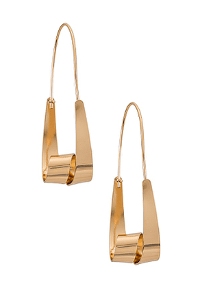 8 Other Reasons The City Earring in Metallic Gold.