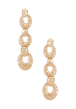 8 Other Reasons Mindy Earring in Metallic Gold.