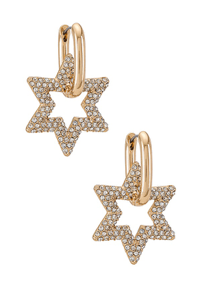 8 Other Reasons Paved With Stars Earring in Metallic Gold.