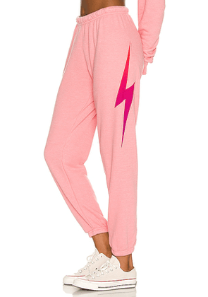 Aviator Nation Bolt Fade Sweatpants in Pink. Size S, M, L.