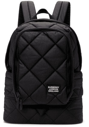 Burberry Black Quilted Large Diamond Backpack
