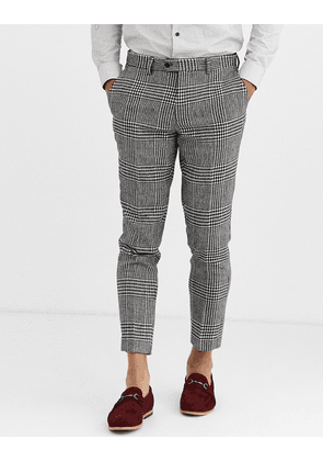 Gianni Feraud Skinny Fit Wool Blend Bold Check Suit Trouser-Multi