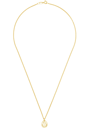 Seb Brown Gold Smiley Necklace