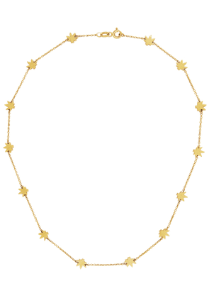 Established Gold Cannabis Charm Necklace