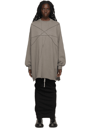 Rick Owens Drkshdw Taupe Crater Tunic Dress