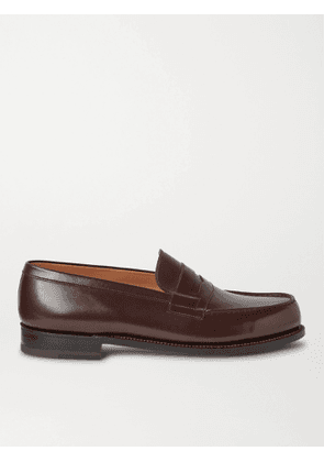 J.M. Weston - 180 Moccasin Leather Loafers - Men - Brown - 8D