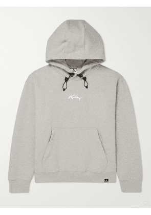 Nike - ACG NRG Logo-Embroidered Cotton-Blend Jersey Hoodie - Men - Gray - M