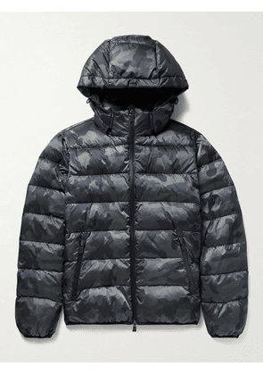 Herno Laminar - Alveo Quilted Camouflage-Print Shell Down Hooded Jacket - Men - Blue - IT 48