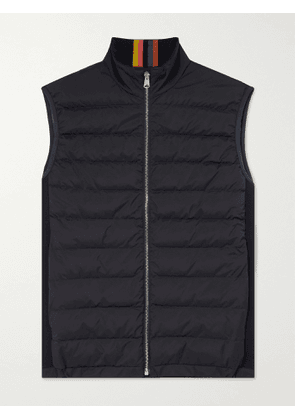 Paul Smith - Cotton-Panelled Quilted Shell Down Gilet - Men - Blue - S