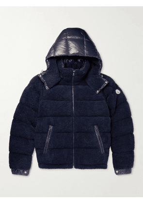 Moncler - Michon Quilted Sherpa and Nylon Down Jacket - Men - Blue - 2