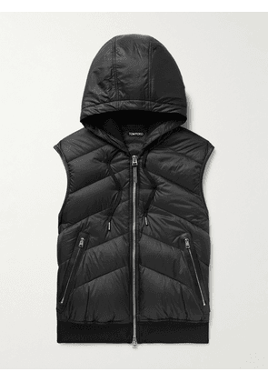 TOM FORD - Slim-Fit Quilted Nylon and Cotton-Jersey Down Gilet - Men - Black - IT 44