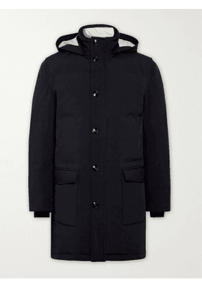 Kiton - Quilted Shell Hooded Down Parka - Men - Blue - IT 54