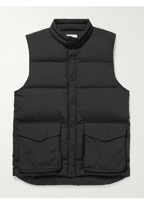 Snow Peak - Quilted Recycled Ripstop Down Gilet - Men - Black - S
