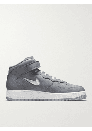 Nike - Air Force 1 Mid Leather Sneakers - Men - Gray - US 5