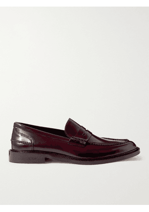 VINNY's - Townee Leather Penny Loafers - Men - Burgundy - 40
